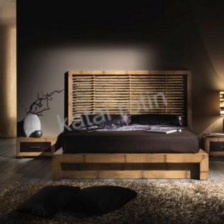Chambre à coucher en bambou bicolore