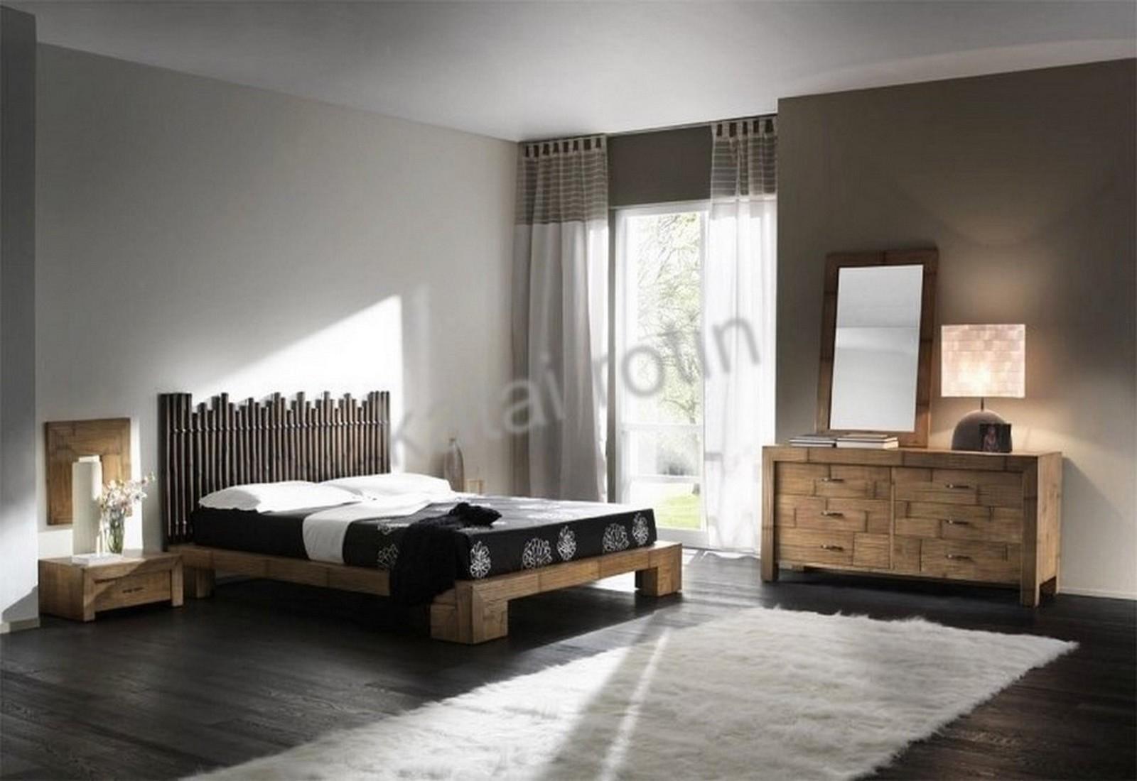 chambre 224 coucher en bambou havane mobilier complet en bambou