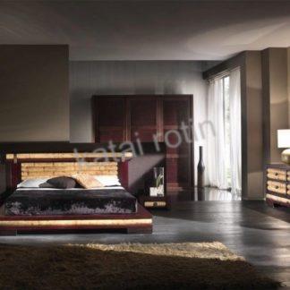 Chambre à coucher en bambou bicolore 2